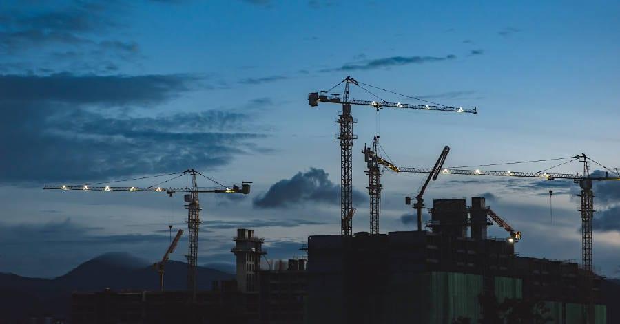 Building Site Cranes